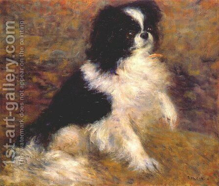 Tama the japanese dog by Pierre Auguste Renoir - Reproduction Oil Painting