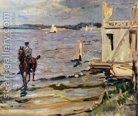 Bathing House Havel by Max Slevogt - Reproduction Oil Painting