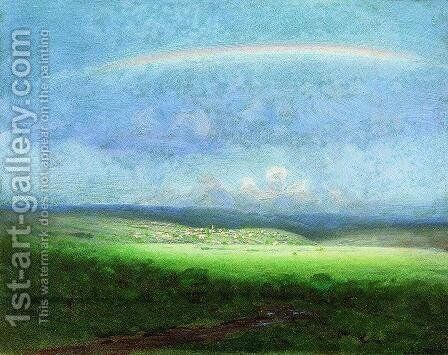 After a Rain. Rainbow by Arkhip Ivanovich Kuindzhi - Reproduction Oil Painting