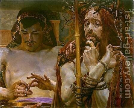 Christ before Pilate by Jacek Malczewski - Reproduction Oil Painting