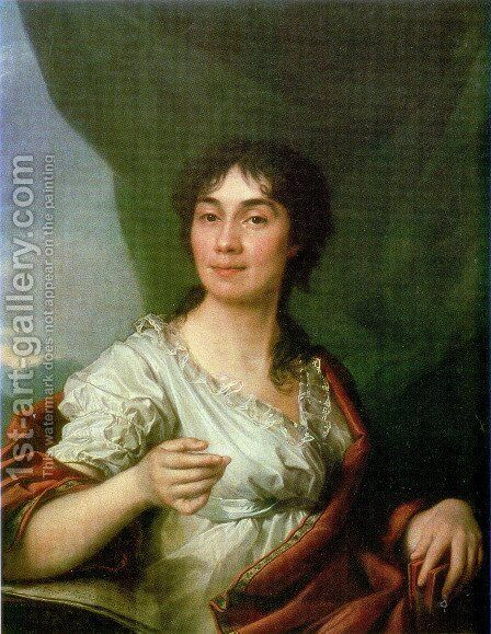 Portrait of Countess A. S. Protasova by Dmitry Levitsky - Reproduction Oil Painting