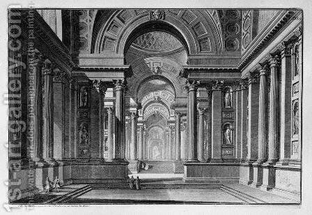 Vestibule of an Ancient Temple by Giovanni Battista Piranesi - Reproduction Oil Painting