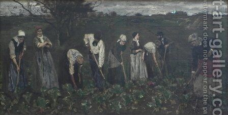 Workers on the beet field by Max Liebermann - Reproduction Oil Painting