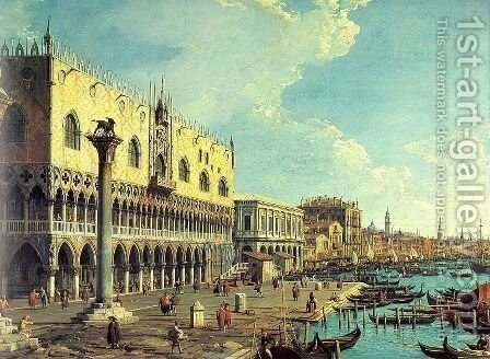 Riva degli Schiavoni Looking East 2 by (Giovanni Antonio Canal) Canaletto - Reproduction Oil Painting
