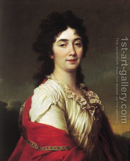 Portrait of Anna Stepanovna Protassova, the former maid of honor of Catherine II by Dmitry Levitsky - Reproduction Oil Painting