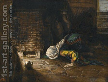 The Lost Drachma by James Jacques Joseph Tissot - Reproduction Oil Painting