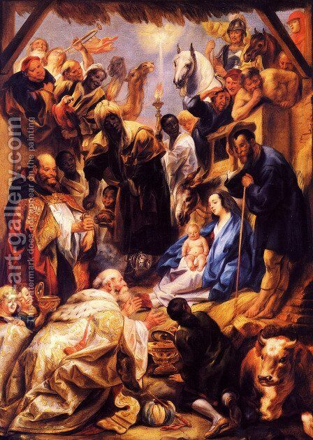 Adoration of the Magi by Jacob Jordaens - Reproduction Oil Painting