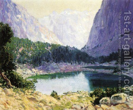 Twin Lakes, High Sierra by Guy Rose - Reproduction Oil Painting
