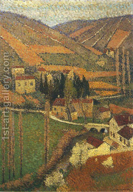 The Campaign by Henri Martin - Reproduction Oil Painting