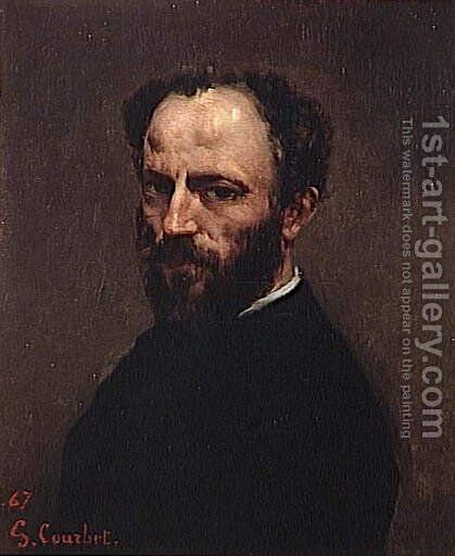 Portrait of Amand Gautier by Gustave Courbet - Reproduction Oil Painting