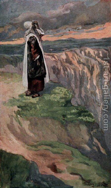 Moses Sees the Promised Land from Afar by James Jacques Joseph Tissot - Reproduction Oil Painting
