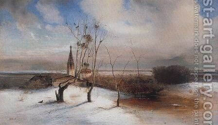 Spring. The Rooks Have Arrived. by Alexei Kondratyevich Savrasov - Reproduction Oil Painting