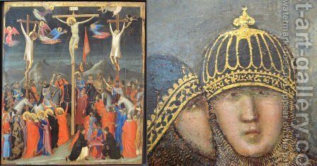 Crucifixion 2 by Giotto Di Bondone - Reproduction Oil Painting