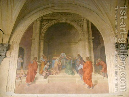 The Miracle of the Relics of San Filippo, from the Life of San Filippo Benizzi by Andrea Del Sarto - Reproduction Oil Painting