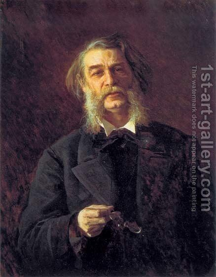 Dmitry Grigorovich, a Russian writer by Ivan Nikolaevich Kramskoy - Reproduction Oil Painting