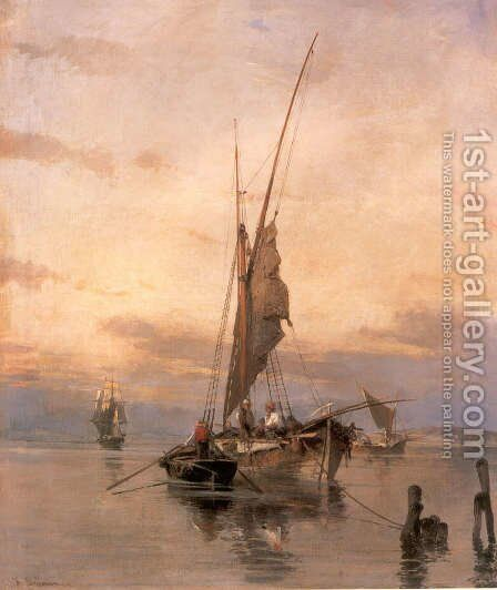 Fishing Boats by Constantinos Volanakis - Reproduction Oil Painting