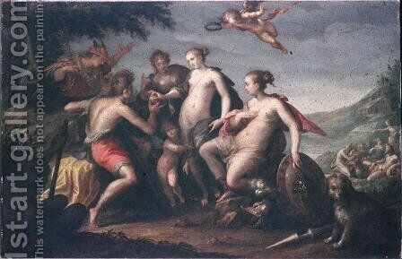 The judgment of Paris by Hans Von Aachen - Reproduction Oil Painting