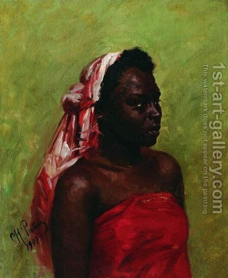 Negress by Ilya Efimovich Efimovich Repin - Reproduction Oil Painting