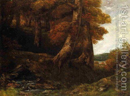 Entering the Forest 2 by Gustave Courbet - Reproduction Oil Painting