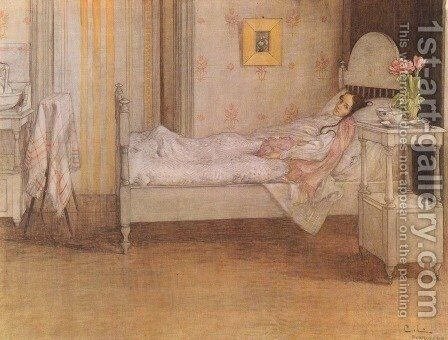 Convalescence by Carl Larsson - Reproduction Oil Painting