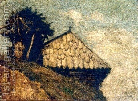 Peasant hut by Ion Andreescu - Reproduction Oil Painting