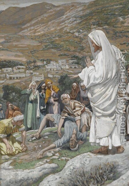 The Possessed Boy at the Foot of Mount Tabor by James Jacques Joseph Tissot - Reproduction Oil Painting