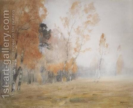 Mist. Autumn. by Isaak Ilyich Levitan - Reproduction Oil Painting