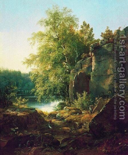 View of Valaam Island by Ivan Shishkin - Reproduction Oil Painting