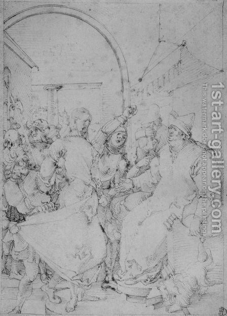 Christ before Caiaphas 4 by Albrecht Durer - Reproduction Oil Painting
