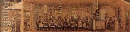 The Thresher's supper by Grant Wood - Reproduction Oil Painting
