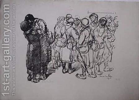 Seuls Quand Meme by Theophile Alexandre Steinlen - Reproduction Oil Painting