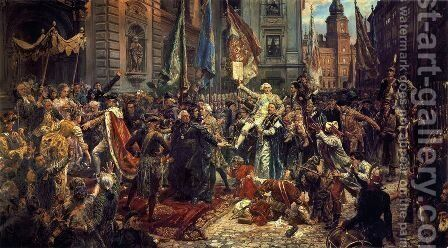 The Constitution of the 3rd May 1791 by Jan Matejko - Reproduction Oil Painting