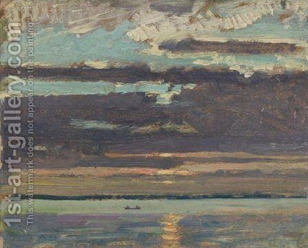 Sunset, Lake Simcoe by James Edward Hervey MacDonald - Reproduction Oil Painting
