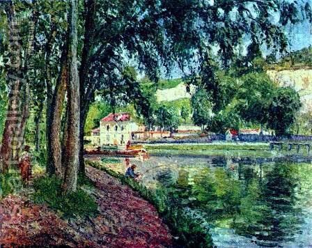Summer Fishing by Camille Pissarro - Reproduction Oil Painting
