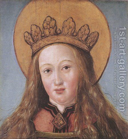 Head of a Female Saint by Hans, the Younger Holbein - Reproduction Oil Painting