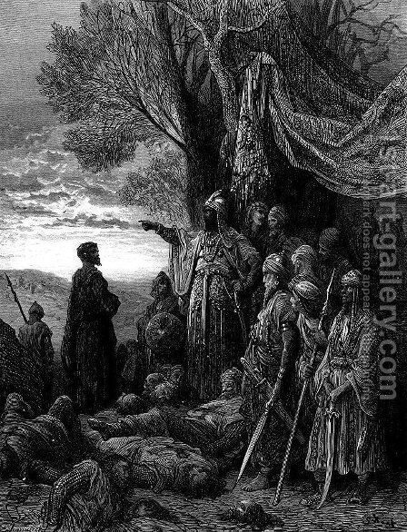 Ilghazy Gives Gauthier His Life by Gustave Dore - Reproduction Oil Painting