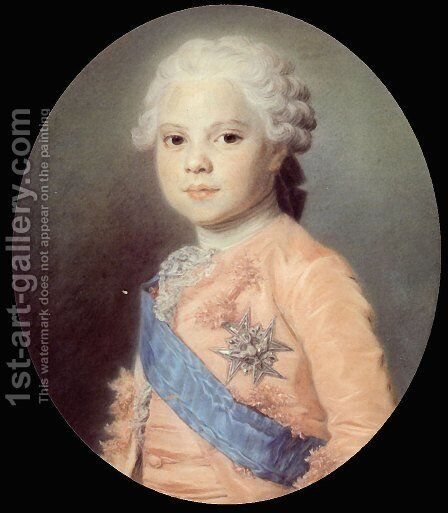 Portrait of Louis of France by Maurice Quentin de La Tour - Reproduction Oil Painting