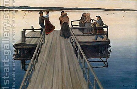 Winger Dance by Hugo Simberg - Reproduction Oil Painting