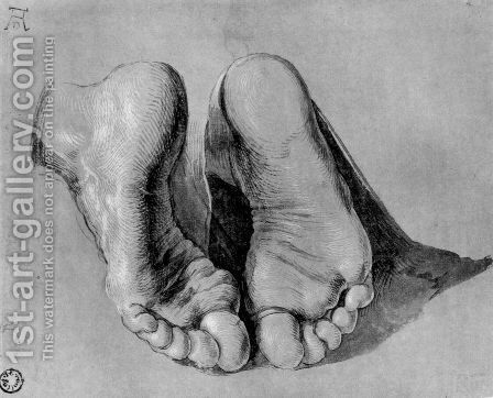 Feet of an apostle by Albrecht Durer - Reproduction Oil Painting