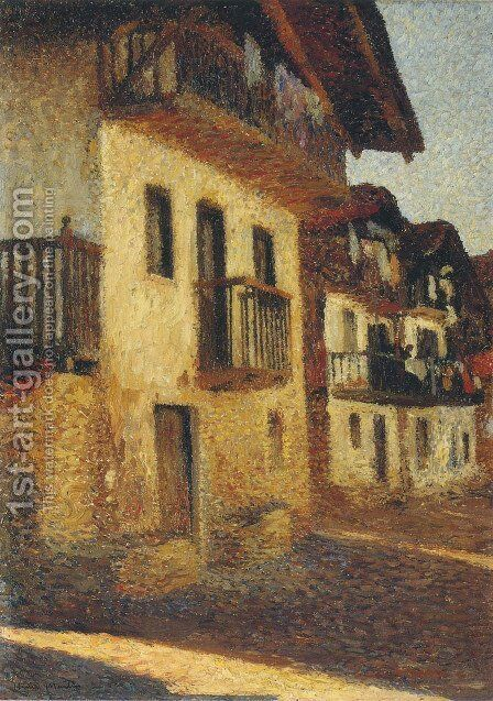 Street in the Village by Henri Martin - Reproduction Oil Painting