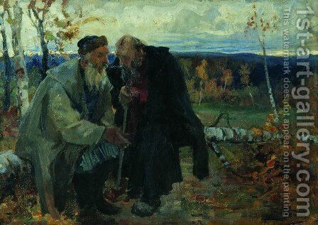 The old men by Andrei Petrovich Ryabushkin - Reproduction Oil Painting