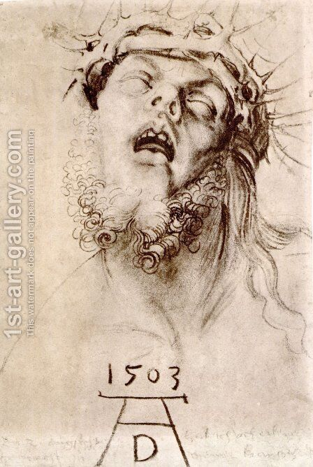 The dead Christ with the crown of thorns by Albrecht Durer - Reproduction Oil Painting