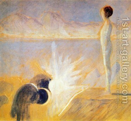 Joseph's Dream by Mikolajus Ciurlionis - Reproduction Oil Painting
