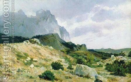 Rocky shore by Ivan Shishkin - Reproduction Oil Painting
