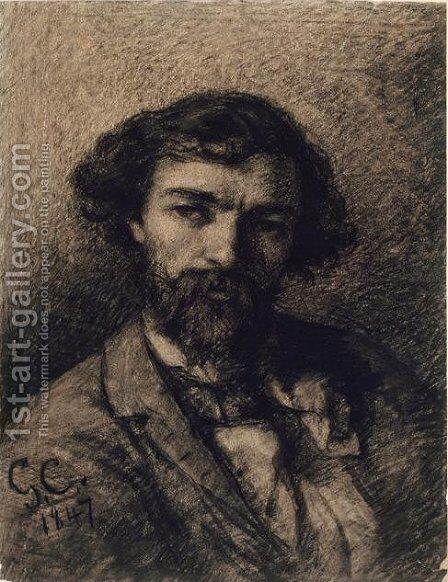 Portrait of Alphonse Promayet by Gustave Courbet - Reproduction Oil Painting