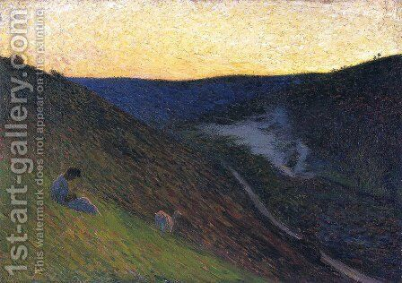 Valley Verde in Crepuscule by Henri Martin - Reproduction Oil Painting