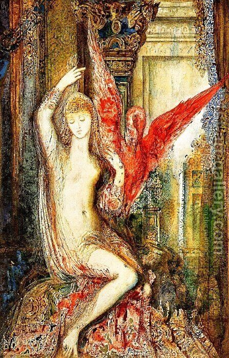 Women ibis pink by Gustave Moreau - Reproduction Oil Painting
