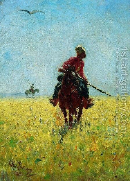 Watch by Ilya Efimovich Efimovich Repin - Reproduction Oil Painting