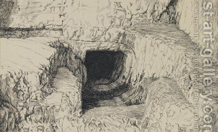 The Round Stone Seen from the Exterior by James Jacques Joseph Tissot - Reproduction Oil Painting