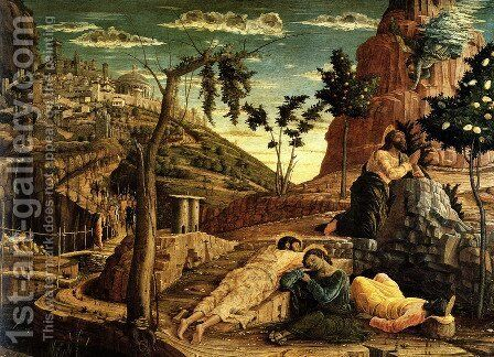 Prayer in the Garden by Andrea Mantegna - Reproduction Oil Painting